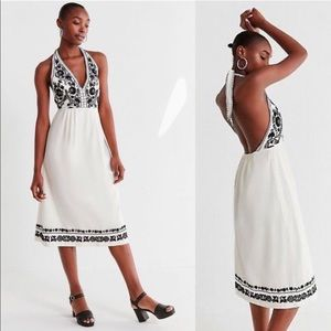 Urban Outfitters embroidered halter dress